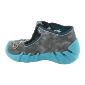 Befado obuwie dziecięce 110P314 szare niebieskie 3