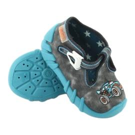 Befado obuwie dziecięce 110P314 szare niebieskie 4