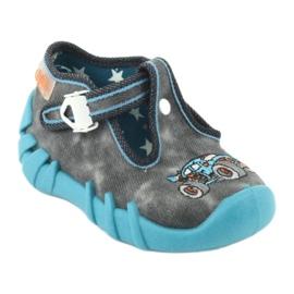 Befado obuwie dziecięce 110P314 szare niebieskie 2