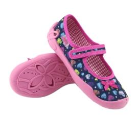 Befado obuwie dziecięce 114X396 granatowe różowe wielokolorowe 4