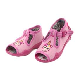 Befado obuwie dziecięce 213P115 różowe 3