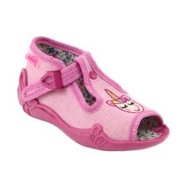 Befado obuwie dziecięce 213P115 różowe 2