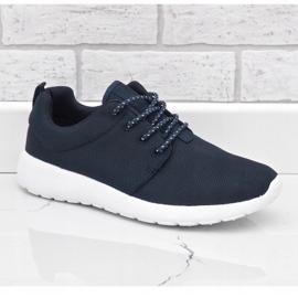 Granatowe obuwie sportowe 9-6836B-12 1