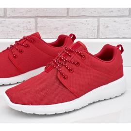 Czerwone obuwie sportowe 9-6836G-12 3