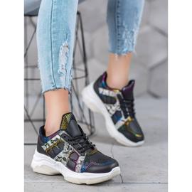 Bona Sneakersy Z Kolorowymi Wstawkami 4