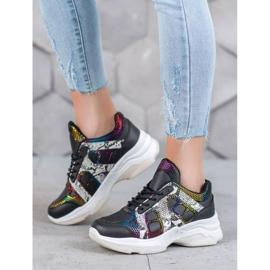 Bona Sneakersy Z Kolorowymi Wstawkami 5