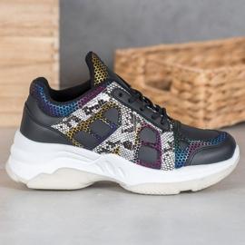 Bona Sneakersy Z Kolorowymi Wstawkami 1