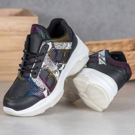 Bona Sneakersy Z Kolorowymi Wstawkami 2