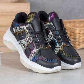 Bona Sneakersy Z Kolorowymi Wstawkami 3