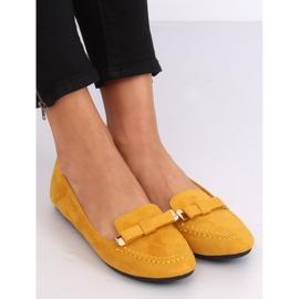 Mokasyny damskie miodowe 2S2018-27 Yellow żółte 2