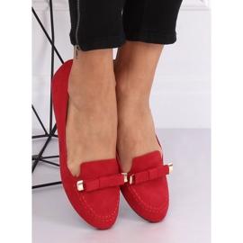 Mokasyny damskie czerwone 2S2018-27 Red 3