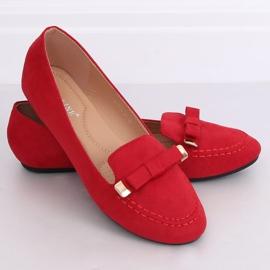Mokasyny damskie czerwone 2S2018-27 Red 1