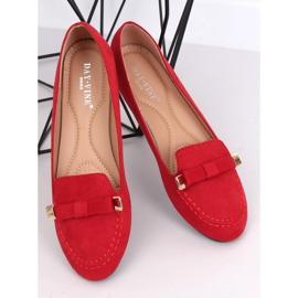 Mokasyny damskie czerwone 2S2018-27 Red 2
