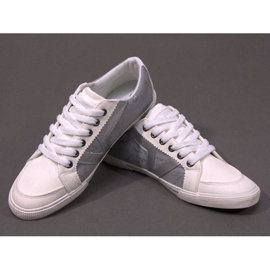 Materiałowe Tenisówki A961 Biały 1