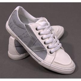 Materiałowe Tenisówki A961 Biały 3