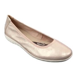 Caprice balerinki rose metalic 22142 różowe żółte 1