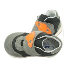 Buty sportowe trampki na rzep Bartek 71141 pomarańczowe szare 6