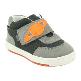 Buty sportowe trampki na rzep Bartek 71141 pomarańczowe szare 1