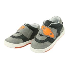Buty sportowe trampki na rzep Bartek 71141 pomarańczowe szare 3