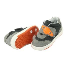 Buty sportowe trampki na rzep Bartek 71141 pomarańczowe szare 5