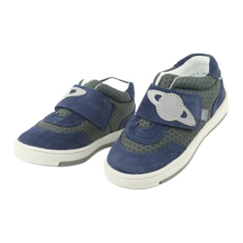 Bartek buty sportowe trampki na rzep 71141 granatowe szare 3