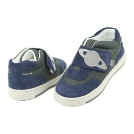 Bartek buty sportowe trampki na rzep 71141 granatowe szare 4