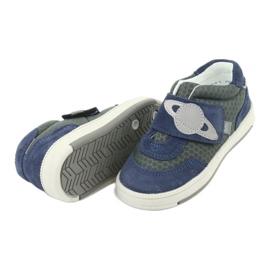Bartek buty sportowe trampki na rzep 71141 granatowe szare 5