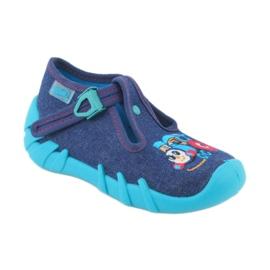 Befado obuwie dziecięce 110P372 granatowe niebieskie wielokolorowe 2