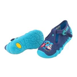 Befado obuwie dziecięce 110P372 granatowe niebieskie wielokolorowe 5