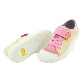 Befado obuwie dziecięce 251Y141 różowe wielokolorowe 4