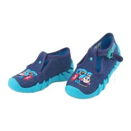 Befado obuwie dziecięce 110P372 granatowe niebieskie wielokolorowe 4