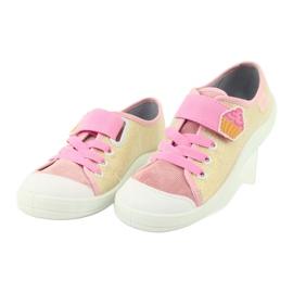 Befado obuwie dziecięce 251Y141 różowe wielokolorowe 3