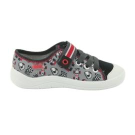 Befado obuwie dziecięce 251X083 czerwone szare 1