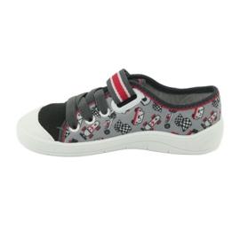 Befado obuwie dziecięce 251X083 czerwone szare 3