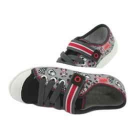Befado obuwie dziecięce 251X083 czerwone szare 6