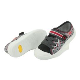 Befado obuwie dziecięce 251X083 czerwone szare 5