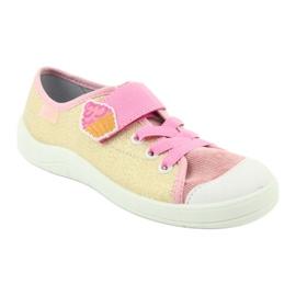 Befado obuwie dziecięce 251Y141 różowe wielokolorowe 2