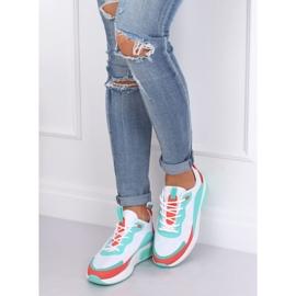 Buty sportowe damskie białe YK106 WHITE/BLUE niebieskie wielokolorowe 5