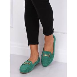 Mokasyny damskie zielone 99-13A Green 6