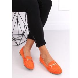 Mokasyny damskie pomarańczowe 99-13A Orange 5