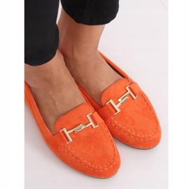 Mokasyny damskie pomarańczowe 99-13A Orange 6