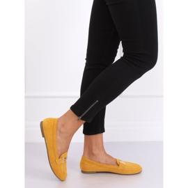Mokasyny damskie miodowe 99-13A Yellow żółte 4