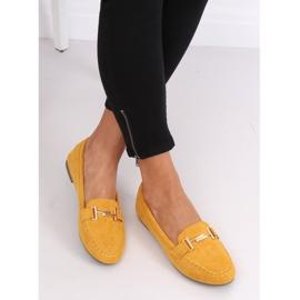 Mokasyny damskie miodowe 99-13A Yellow żółte 5