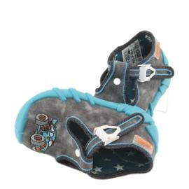 Befado obuwie dziecięce 110P314 niebieskie szare 4