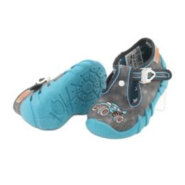 Befado obuwie dziecięce 110P314 niebieskie szare 3