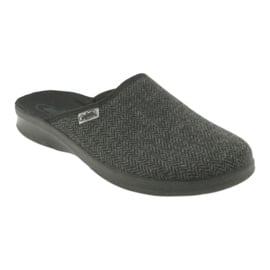 Befado obuwie męskie pu 548M022 czarne szare 1