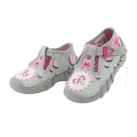 Befado obuwie dziecięce 110P359 różowe szare 5