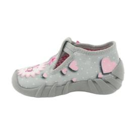 Befado obuwie dziecięce 110P359 różowe szare 4
