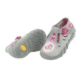 Befado obuwie dziecięce 110P359 różowe szare 6