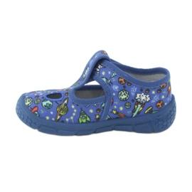 Befado  obuwie dziecięce  533P003 niebieskie wielokolorowe 4